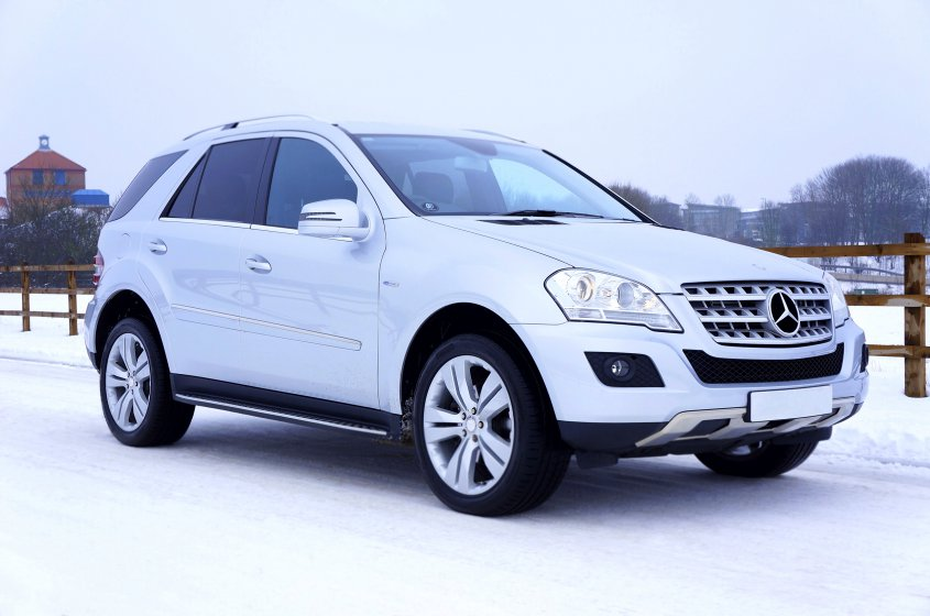 White Mercedes SUV